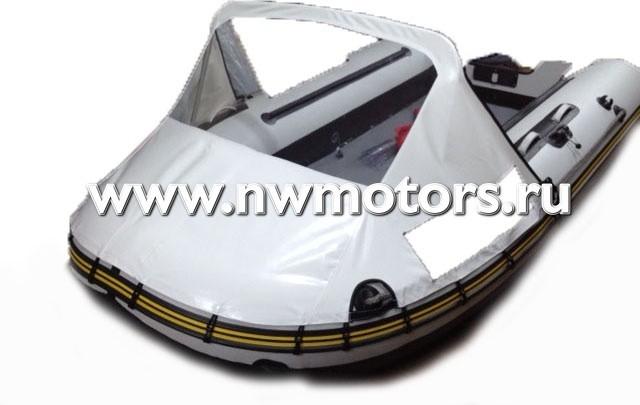 Тент носовой с окном для лодки 450-550 см