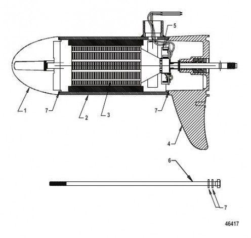 Cхема Lower Unit Assembly (FW70 - Variable)(8M0105505)