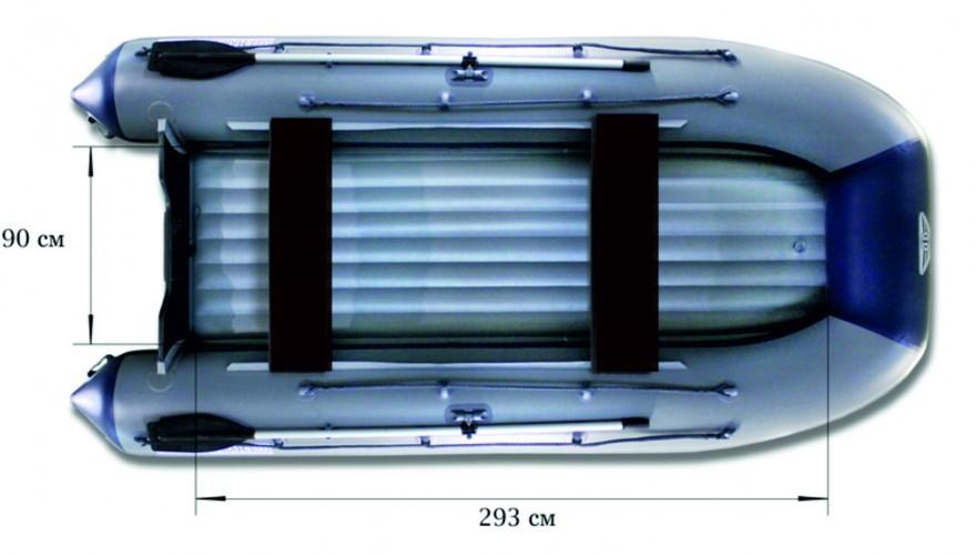 Моторная надувная лодка «ФЛАГМАН - 400U»