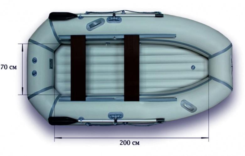 Гребная надувная лодка «ФЛАГМАН - 280NТ»