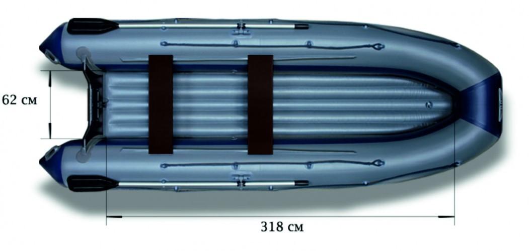 Моторная надувная лодка «ФЛАГМАН - 420IGLA»