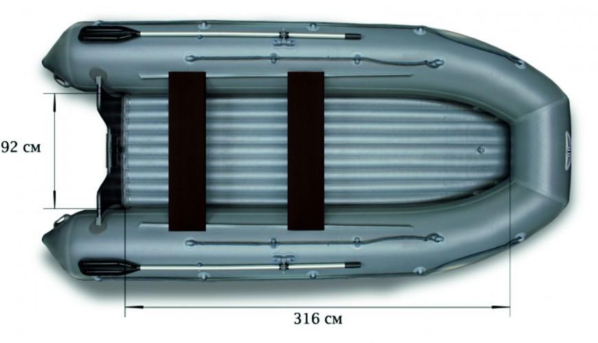 Моторная надувная лодка ФЛАГМАН 420 ПВХ