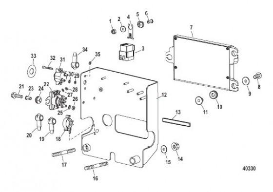 Cхема Электрические компоненты (Монтажная коробка)