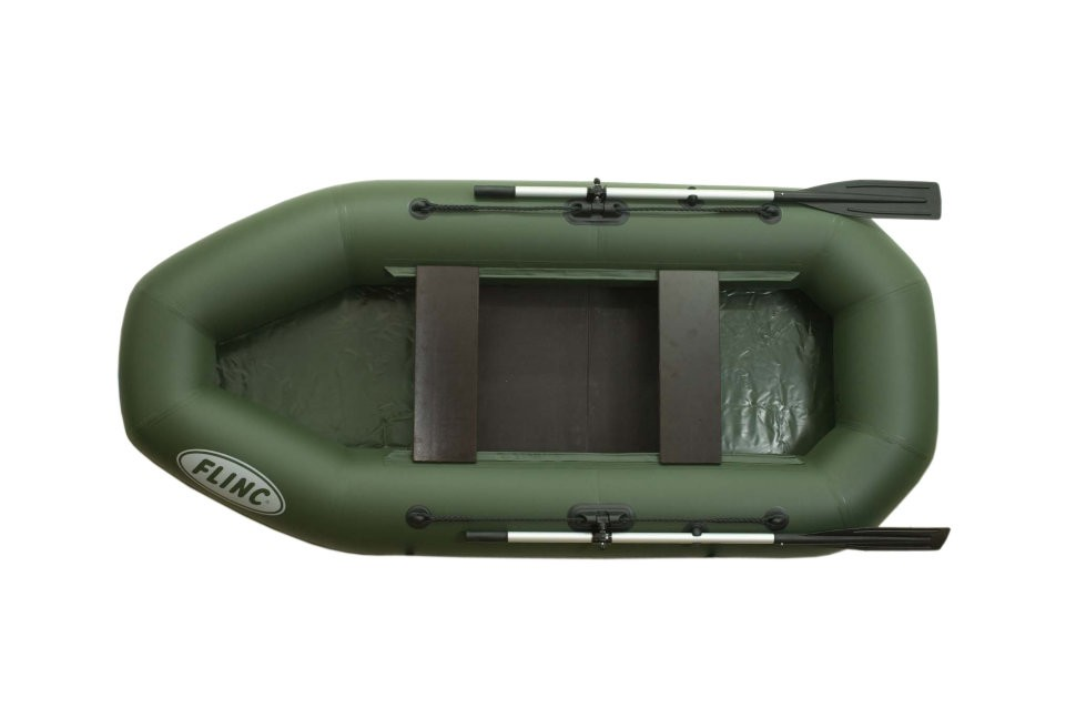 Надувная лодка ПВХ FLINC F280L (зеленая)