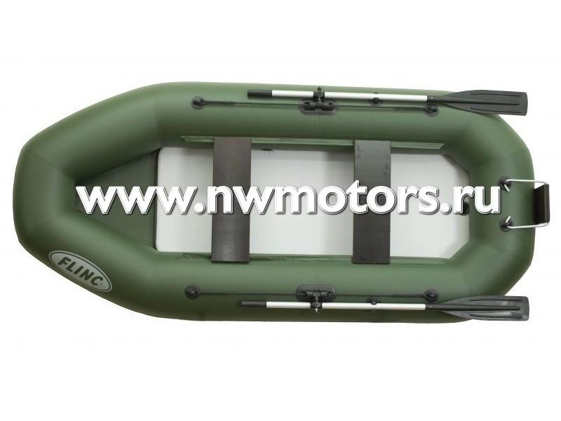 Надувная лодка ПВХ FLINC F280ТLA(Цвет: Зеленый)
