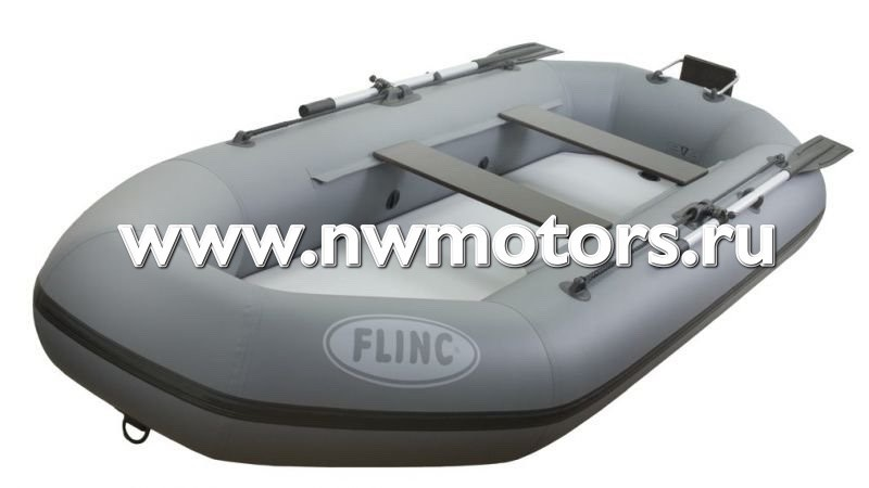 Надувная лодка ПВХ FLINC F300ТLA  (Цвет: Серый)
