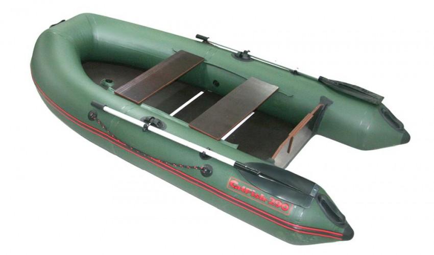 Надувная ПВХ лодка «CatFish 290» (цвет оливковый)