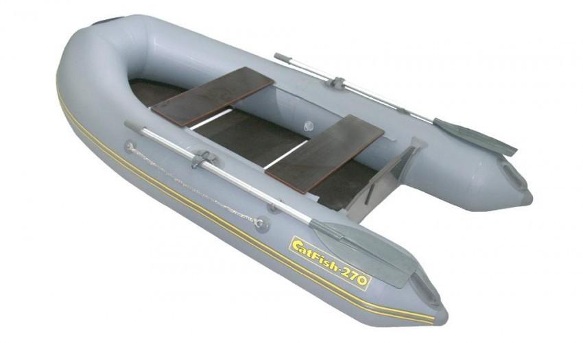 Надувная ПВХ лодка «CatFish 270» (цвет оливковый)