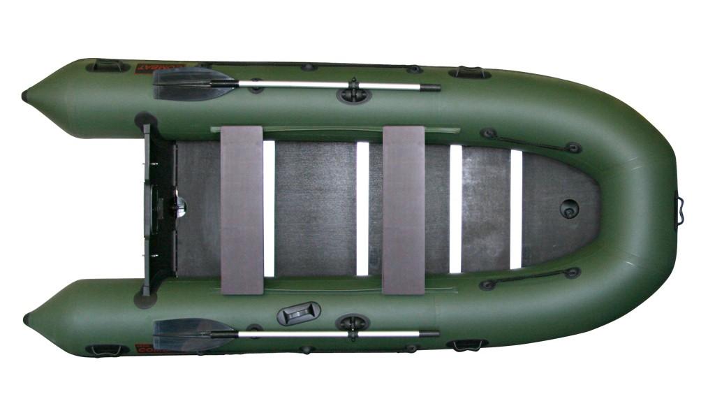 Надувная ПВХ лодка «Комбат CMB-360» (темно-серая)