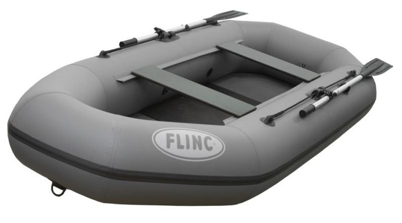 Надувная лодка ПВХ FLINC F280L (Серая)