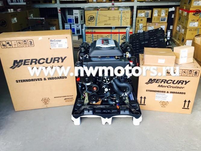Комплект: двигатель Mercruiser 6.2L 350 л.с. + транцевая сборка Bravo + поворотно-откидная колонка Mercruiser Bravo Three 3