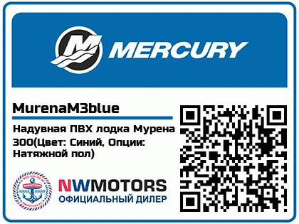 Надувная ПВХ лодка Мурена 300(Цвет: Синий, Опции: Натяжной пол)