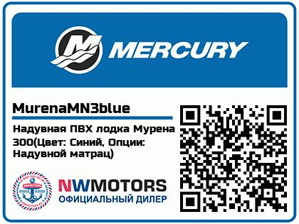 Надувная ПВХ лодка Мурена 300(Цвет: Синий, Опции: Надувной матрац)