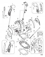 Дистанционное управление – DTS Сдвоенная рукоятка/консоль с панелью CAN (конструкцияII)