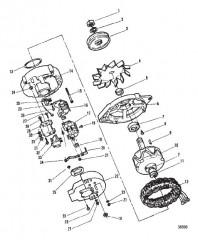Схема ВПУСКНОЙ КОЛЛЕКТОР И ПЕРЕДНЯЯ КРЫШКА (КОНСТРУКЦИЯ II)