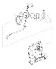 Схема Угловая выхлопная труба (2A532422 и выше)