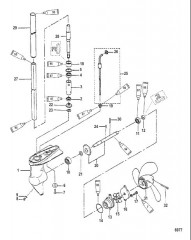 Схема Картер редуктора в сборе 2/2.5 л.с.