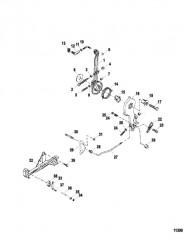 Схема Рычаг дроссельной заслонки / кулачок дроссельной заслонки в сборе