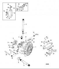 Схема Трансмиссия и связанные детали (Borg-Warner 71C/ 72C)
