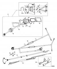 Комплект системы управления дифферентом Active Trim Сдвоенный двигатель – 75/90/115 EFI четырехтактн.
