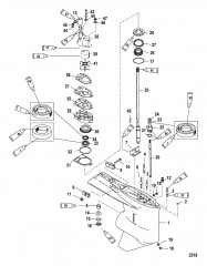 Картер редуктора (Ведущий вал)(стандартное вращение/противовращение)