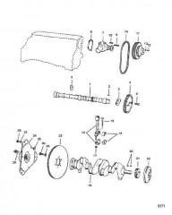 Схема Коленчатый вал Распределительный вал и водяной насос