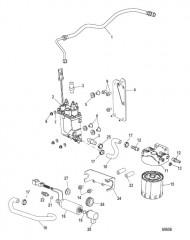 Схема Цилиндр рулевого управления Гидроусилитель