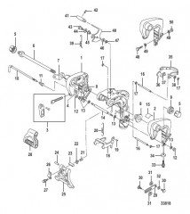 Схема Поворотный кронштейн ручной наклон