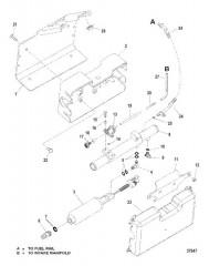 Схема FUEL PUMP AND FUEL COOLER (S/N 0K040001 THRU OK999999)