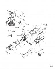 Схема Топливный насос (Алюминиевый корпус)