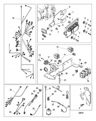 Схема Электрические компоненты Цифровой (с/н 1A343327 и ниже)