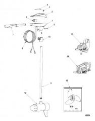 Схема Двигатель для тралового лова в сборе Регулировка скорости до 5, конструкция I, серебристая колонка