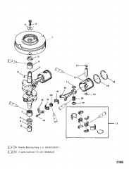 Схема Коленчатый вал, поршни и маховик