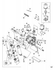 Схема Компоненты усилителя дифферента (литой корпус насоса