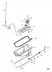 Схема Маслосборник и масляный насос