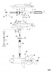 Двигатель для тралового лова в сборе (Модель FW71HP) (24 В)