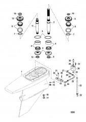 Схема Картер редуктора Сухой поддон Six/NXT6 SSM – Ведущий вал
