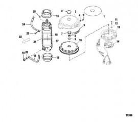 Схема Электрические компоненты (Маховик / стартер в сборе)