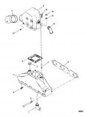 Схема Выхлопной коллектор и выхлопной коленчатый патрубок