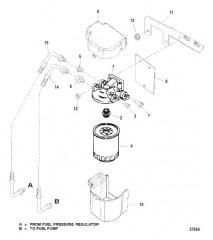 Схема FUEL FILTER (S/N-0L679175 & BELOW)