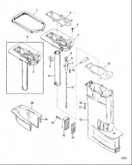 Схема Корпус карданного вала в сборе