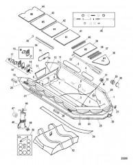 Схема Модель Quicksilver Heavy Duty 530 (С алюминиевым настилом)