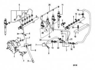 Схема Fuel Injection Pump, Rails, Lines and Injector