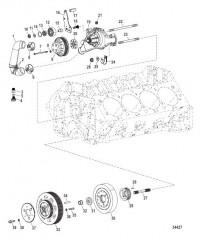 Схема Компоненты двигателя (Водяной насос)