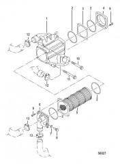 Схема Промежуточный охладитель воздуха