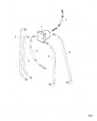 Схема Блок соединителя и гидравлические шланги (Мокрый и сухой поддон)
