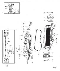 Схема Охладитель нагнетаемого воздуха/впускной коллектор (Gen II) обслуживание распространяется на колпачок