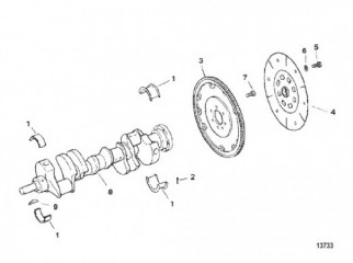 Схема Crankshaft and Flywheel