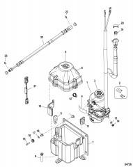 Комплект насоса – рулевой механизм с усилителем (4–24фута – 1,22–7,32м) Предохранитель 60А