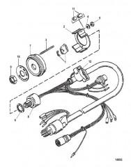 Схема Замок зажигания в сборе (8-конт. AMP) С воздушной заслонкой и звуковым сигналом